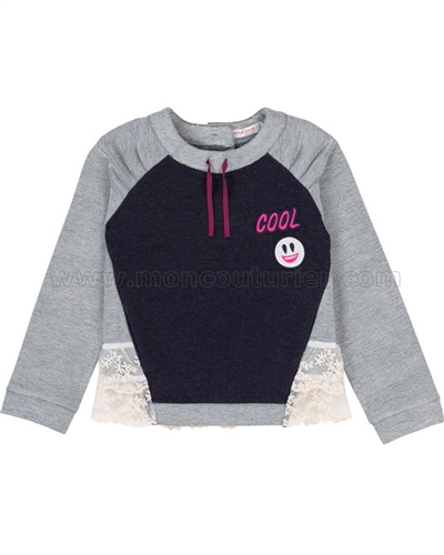 Deux par Deux Sweatshirt Rock n Rose