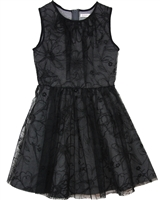 Deux par Deux Black Scuba and Tulle Dress Chic Choc Fashion