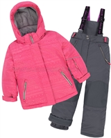 Deux par Deux Girls' 2-Piece Snowsuit I have a Crush Ebony