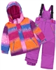 Deux par Deux Girls' 2-Piece Snowsuit Snow Sunset Purple