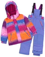 Deux par Deux Girls' 2-Piece Snowsuit Snow Sunset Blue