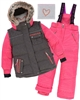 Deux par Deux Girls' 2-Piece Snowsuit Friendship Forever Raspberry