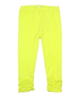 Deux par Deux Yellow Capri Leggings Flamingo Edit