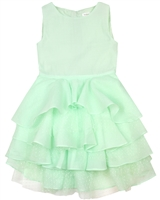 Deux par Deux Green Flounce Dress Oscar Nights