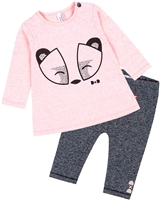 Deux par Deux Baby Girls' Top and Pants Set Between Heaven and Earth