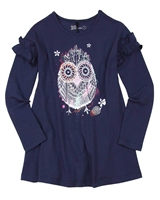 Deux par Deux Tunic with Owl Print Mandala Therapy