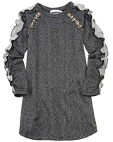 Deux par Deux Sweatshirt Dress Black and White