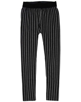 Deux par Deux Striped Leggings Black and White
