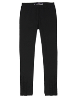 Deux par Deux Black Jersey Leggings Black and White