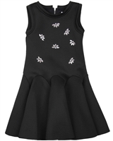 Deux par Deux Scuba Dress with Jewels Night Queen