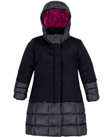 Deux par Deux Long Puffer Jacket in Black