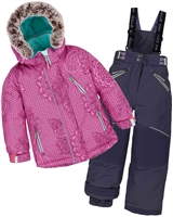 Deux par Deux Girls' 2-Piece Snowsuit Fanny Mandalas Black