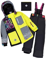 Deux par Deux Girls' 2-Piece Snowsuit Great Escape Sport Yellow