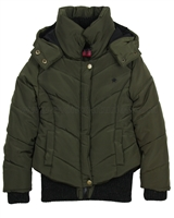 Dress Like Flo Short Puffer Coat Khaki
