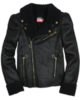 Dress Like Flo Faux Shearling Motorcycle Style Jacket