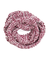 Dress Like Flo Chunky Knit Infinit Scarf Bordeaux