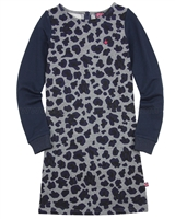 Dress Like Flo Cheetah Print Sweatshirt Dress