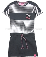 Dress Like Flo Striped Look Sweatshirt Dress