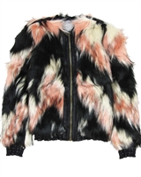 Dress Like Flo Faux Fur Bomber Jacket