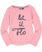 Dress Like Flo Top with Letters Print