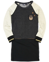 Dress Like Flo Colour-block Sweatshirt Dress