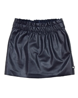 Dress Like Flo Pleather Skirt Navy