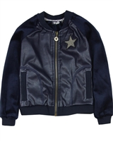 Dress Like Flo Pleather Bomber Jacket