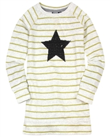 Dress Like Flo Striped Sweatshirt Dress