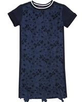 Dress Like Flo Dress in Lace Front in Navy