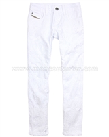 Diesel Girls Jacquard Denim Pants Grupeen White