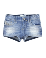 Diesel Girls Washed Effect Denim Shorts Prira