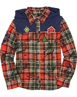 Desigual Boys Plaid Shirt Radish