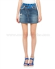 Desigual Womens' Denim Skirt Ethnic Mini