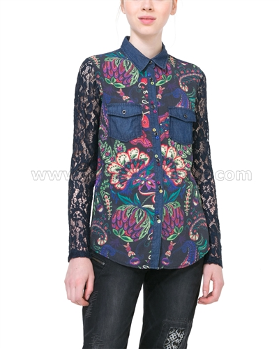 Desigual Women's Shirt Lace