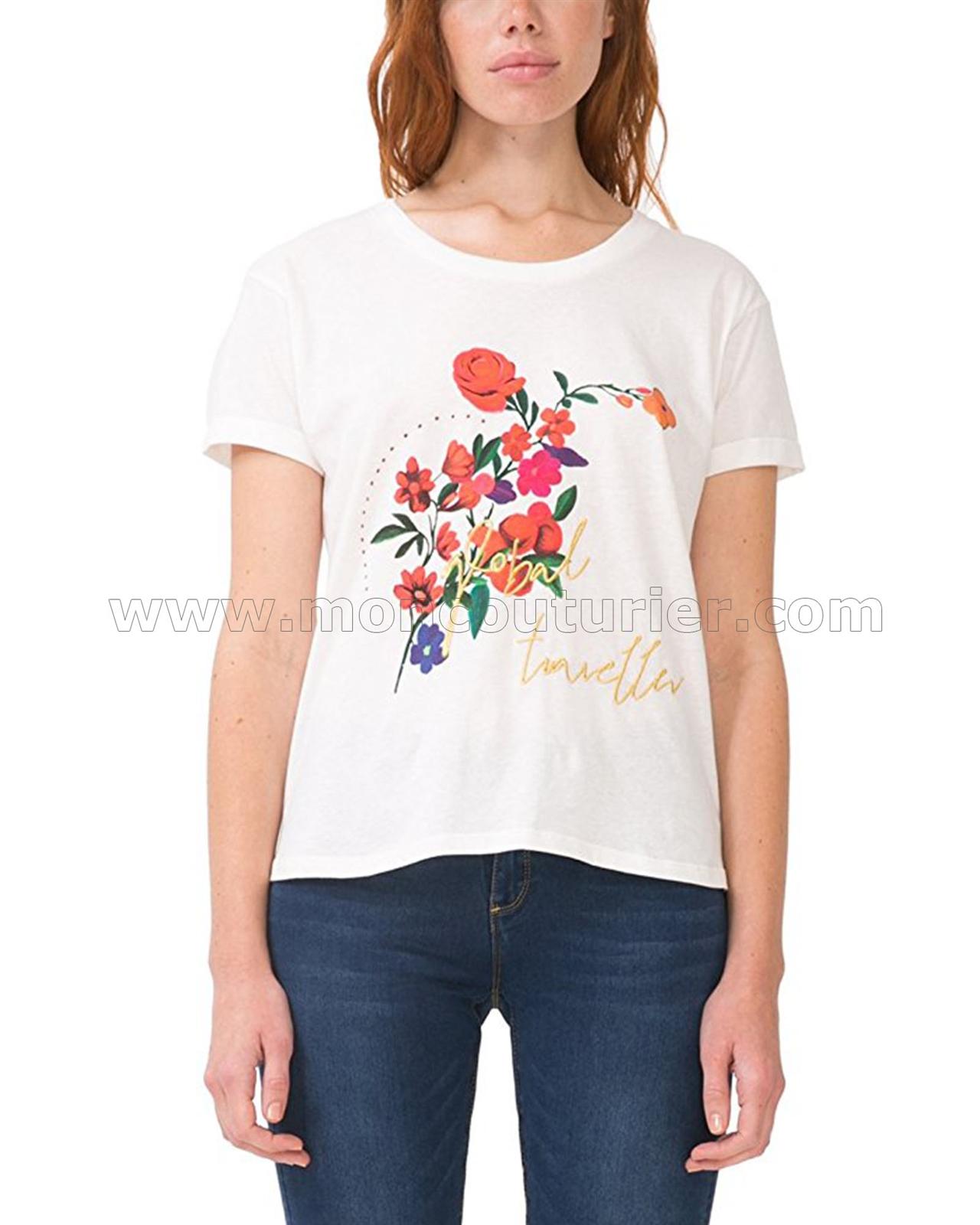 desigual women 39 s t shirt marina. Black Bedroom Furniture Sets. Home Design Ideas