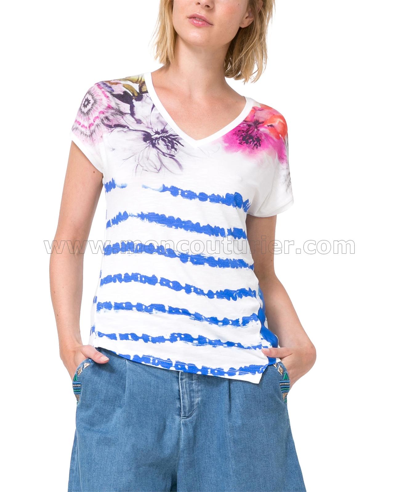 desigual women 39 s t shirt cellia. Black Bedroom Furniture Sets. Home Design Ideas