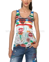 Desigual Women's Tank Top Amarillo