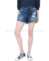 Desigual Denim Shorts Exotic Blue