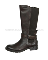 GEOX Girls Tall Boot Jr Sofia Brown
