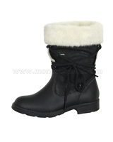 GEOX Girls Short Boots with Fur Jr Sofia