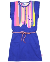 Kidz Art Dress with Flounced Shoulders