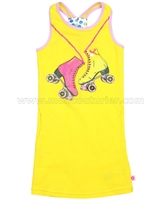 Kidz Art Tank Dress with Printed Boots