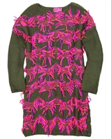 Kidz Art Sweater Dress with Shaggy Front