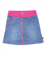 Kidz Art Denim Skirt with Zipper