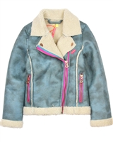 Kidz Art Faux Shearling Biker Jacket