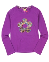 Kidz Art Top with Sequin Flower,