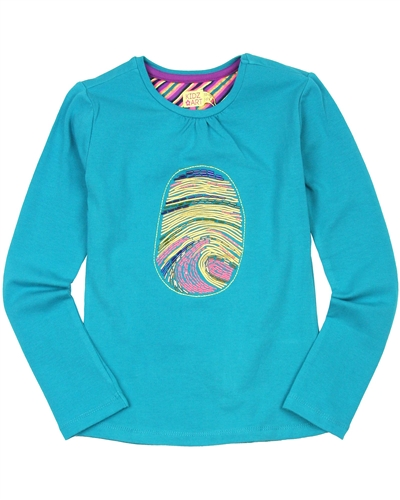 Kidz Art Top with Print and Beads