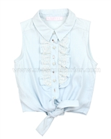 Biscotti Girls Pretty Casual Blouse with Knot