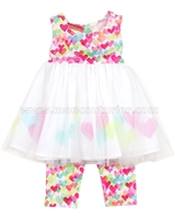 Kate Mack Girls Love is in the Air Dress and Leggings Set