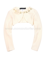 Biscotti Filigree Splendor Ivory Knit Shrug